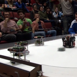 The Robockey Cup from the School of Engineering and Applied Science's Design of Mechatronic Systems at Penn. Check out these hockey playing pint-sized robots in action!