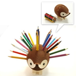 Hedgehog color pencil holder!