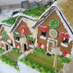 "This ""LEED Platinum"" Gingerbread house by HOK is seriously sweet."