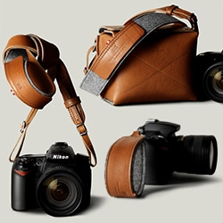 Hard Graft's goods for your camera - Hold Camera Handle, Hang Camera Strap, and Box Camera Bag.