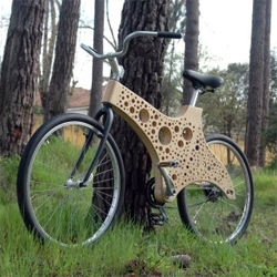 these bike frames are wild.  not sure whether they're cool or ugly, but definitely different.  if i were the cycling type...i might be tempted.