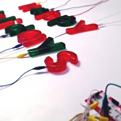 WeAreMatik's MaKey MaKey instrument - made with lasercut Jello and a big dose of holiday spirits.