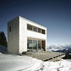 Holiday House in the Alps, Scheidegg, Switzerland. Designed by Andreas Fuhrimann and Gabrielle Hächler, this house has incredible  panoramic views!