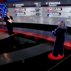 CNN's Jessica Yellin goes holographic to chat with Wolf Blitzer in New York, from Chicago.