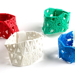 Kinematics @ Home bracelets from Nervous System ~ in addition to their latest higher quality Kinematics pieces, you can try printing your own!
