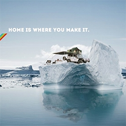 """Go to extremes. Bring back proof."" Fantastic ads from Front Runner Outfitters. They are the go to for everything your adventure vehicles could need! Also love ""Home is where you make it."""