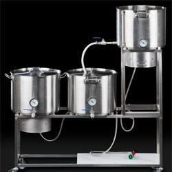 You can brew your own beer at home with a little help from this home beer brewing system from Oregon-based Synergy Brewing.