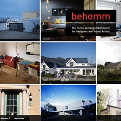 Behomm - The global home exchange community for designers and visual artists!