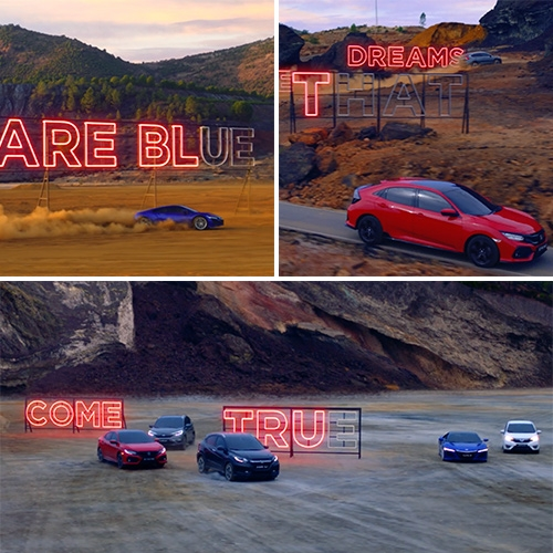 "Honda Range ""Over The Rainbow"" ad by Simon & Stephen uses neon karaoke to share Honda's pursuit for better."