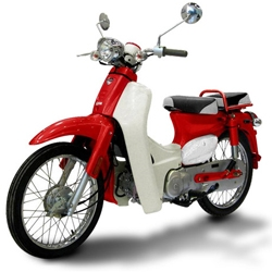 The Symba is the Honda Super Cub scooter reincarnated. It will hit the streets with its 100cc 4-stroke engine and 4-speed semi-automatic transmission in early May. Scooter fans rejoice!