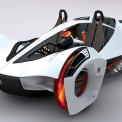 This year's LA Auto Show Design Challenge stipulated that concepts be four-passenger vehicles weighing 1,000 lb. or less that are comfortable, safe, and deliver satisfactory performance and looks. 9 vehicles were presented including several organic models.