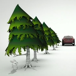 Nice spots from Honda about their cars and the environment created by DraftFCB and XYZ Studios.