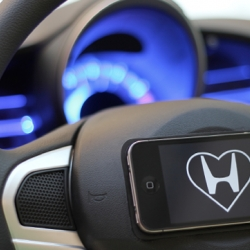 Ambient Alerts is a new system by Sam Grosset for drivers. Existing engine warning lights are easily ignored but Ambient Alerts measures the error's severity and displays it as a heartbeat on the user's phone.