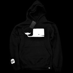 "Super adorable white on black hoodie ""Locals Only"" by Emil Kozak ~ pity it's sold out"