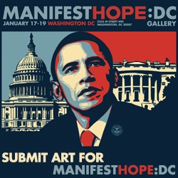 Manifest Hope!!! Huge art show Jan 17-19 in DC, and NOTCOT will be there covering it! Help by submitting your hope filled works now for a chance to be a part of the festivities! Quite the judging panel too...