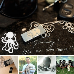 GIVEAWAY!!! NOTCOT is lucky enough to giveaway one of the 100 limited edition laser etched Mark Hoppus/Fall Out Boy Octopus USB Keys!!! You know you want it ~ it also turns into a shirt (kinda) and is filled with goodies...