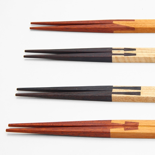 "Joint Chopsticks collaboration by Yuma Kano and traditional carpenter Katsuhisa Toda. This design applies the art of ""tsugite"" joints traditionally used by carpenters in Japan to attach pieces of wood together without nails or screws."