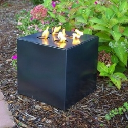 John Beck Steel Fire Cube ~ Beautiful indoor or outdoor fire for these cold times