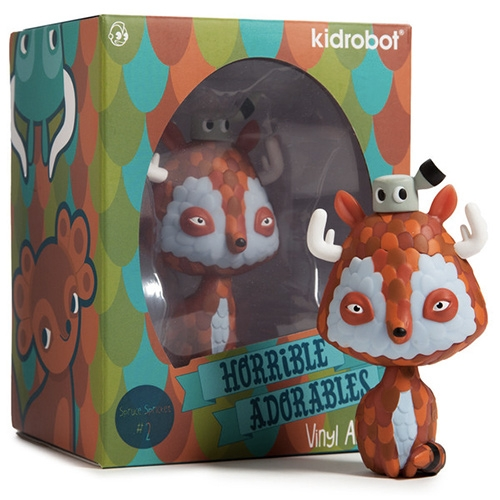 Kidrobot x Jordan Elise Horrible Adorables Vinyl Series. here's Spruce Spricket! Limited edition in 3 drops - Drop 1: Tangled Twins and Spruce Spricket (May) Drop 2: Shrewdipede and Yippey Yak (June) Drop 3: Haremus, Pufferhedge and Foxolot (July).