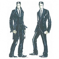 """World Cup Team Italy's magnificent Dolce & Gabbana-designed """"formal uniform"""" for their official team trips ~ a navy suit and aviators."""