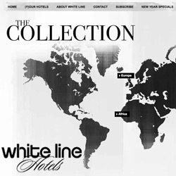White Line Hotels ~ pretty site for this interesting new luxe boutique hotel site
