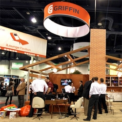 The house that Griffin built at CES ~ in the iLounge, where it was all things mac and inescapable retro-mod...