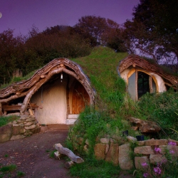 Simon Dale and his family wanted to build a organic house. The result is a beautiful house straight out of Lord of the Ring.