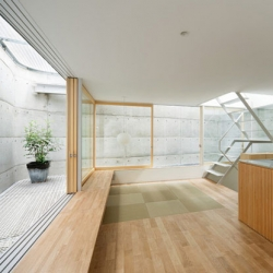 Suppose design office has recently completed this three-storey house in Hiroshima, 'House in Minamimachi 03'. Like so many of their builds, its humble exterior contains a stunning space within.