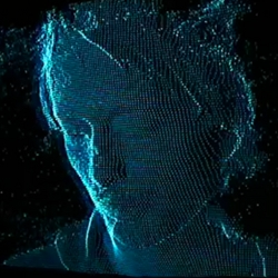 Screenshots of Radiohead's new as-yet-to-be-released new video for 'House of Cards' is created with renderings from Geometric Informatics scanning system and Velodyne Lidar system.