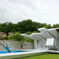 A contemporary design for a pool house from Austria.