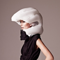 Hövding is a new bike helmet that isn't a helmet at all but a collar. A collar that holds an airbag which will deploy and protect the rider in case of a fall.