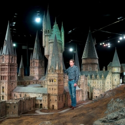 The model was built for the first film - Harry Potter and the Philosopher's Stone - and has been used for exterior shots in every film since.