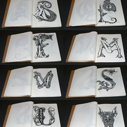 HRG Font compleet!This font is drawn in honour of great master Х. R. Giger. From nightly.me, Irina Batkova.