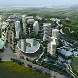 impresive huaxi city center in guiyang, china. MAD architects invited 11 international firms for the design, each project is amazing on its own