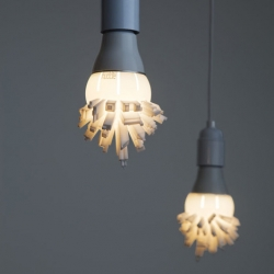3D printed Huddle Bulb Shade by David Graas