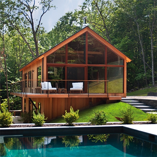 "FastCo Design ""Airbnb, Instagram, And The Rise Of The Optimized Cabin: Hudson Woods is a $25 million bet to suburbanize cabin life"" Interesting read on instagram bait, designer cabin prefab subdevelopment (131 acres, 26 cabins) in the woods."