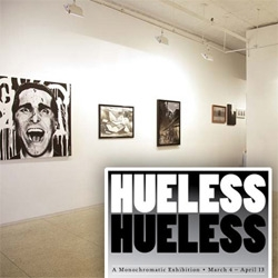A peek inside Hueless, the new show at Mallick Williams & Co gallery in nyc. A greyscale show... from the artwork, to the cookies!