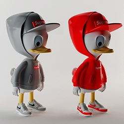 Huey, Dewey and Louie in Supreme, Nike, Givenchy and MORT by Simeon Georgiev for Highsnobiety!