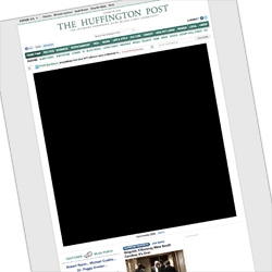 STOP PIPA/SOPA - Huffington Post goes black with a huge black square - to inform about the Stop SOPA Blackout.