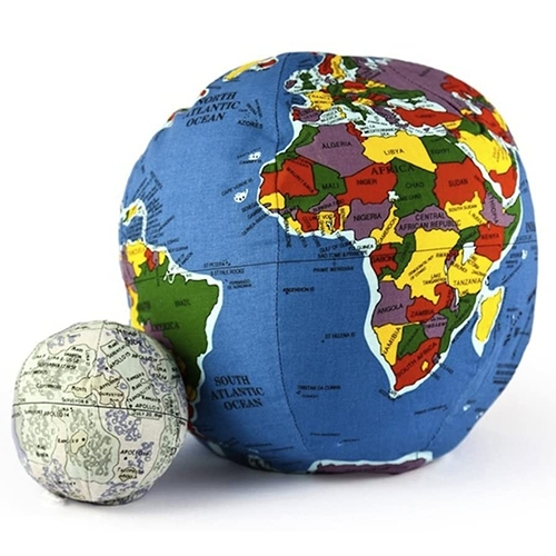 Pocket Hugg-A-Planet Earth & Moon! So much nostalgia (started in VT 1982!) but the squishy globe now has updated maps, velcro pocket that fits your secret stash (or the proportionately sized Moon!) and comes in a Mars version too.