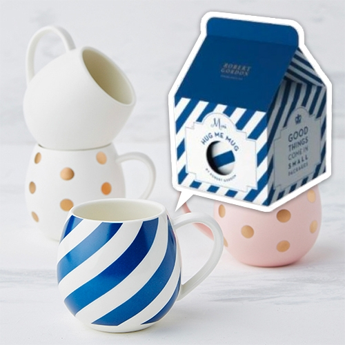 Robert Gordon Australia Mini Hug Me Mugs are adorable and packaged in such fun milk carton shaped gift boxes!