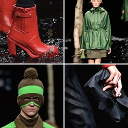 Hunter Boots takes rain wear/accessories to an absurdly fashionable level in their latest collection for Fall/Winter 2014.