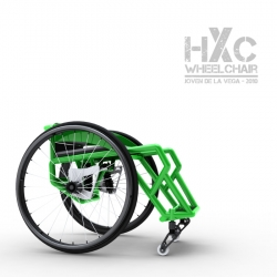 HXC Wheelchair designed and built specifically for skateparks by Joven De La Vega. Inspired by Aaron Fotheringham.