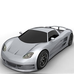 Hybrid Technologies plans to produce two models of this beauty, an all electric that will have a range of 150-180 miles, and a plug-in hybrid model that  will boast a 220 mile per gallon efficiency & over 600hp!