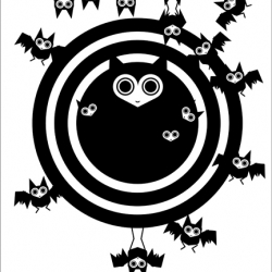 The latest and greatest from Dora Drimalas of Hybrid-Home...Limited Edition Bat Cave Print