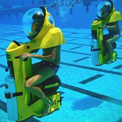 Underwater scooter, 'BOB™'  is a Breathing Observation Bubble designed to allow non-divers the opportunity to enjoy the full experience of life underwater.
