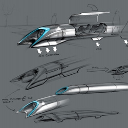 Elon Musk releases initial plans and designs for the Hyper Loop, an experimental transportation system from LA to San Francisco to the public.