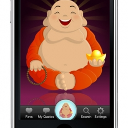"The new ""Little Buddha"" iPhone app from HappyTapper is a random quote generator with 39,000+ quotes and a little eye candy to boot."
