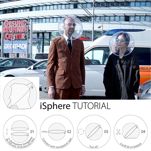 Plastique Fantastique iSphere might be the most amusing DIY face shield/mask design yet.