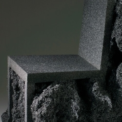 Ian Blasco's Metamorphosis Chair looks like it was carved straight out of volcanic rock - but looks can be deceiving!